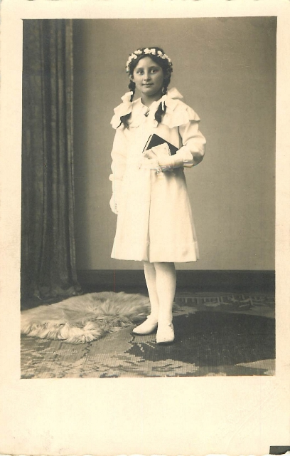 My grandmother as a girl of nine.