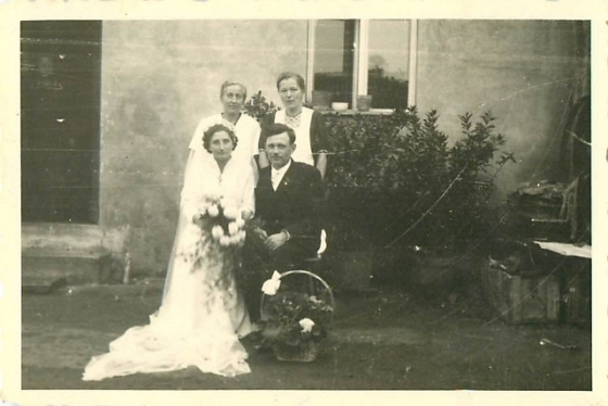 My grandparents' wedding picture.